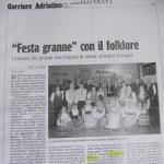 Corriere Adriatico 23-02-2010