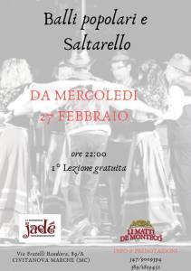 corso balli popolari e saltarello Civitanova Marche 2019